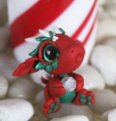 Bitty Baby Holiday Dragon by BittyBiteyOnes.deviantart.com on @DeviantArt
