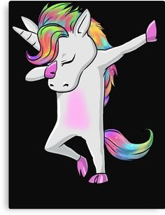 'Cool Dabbing Unicorn Shirt' Acrylic Block by woOOdy T Shorts, Color By Numbers, Unicorn Shirt, Reference Images, Chiffon Tops, Classic T Shirts, Cool Stuff, Fictional Characters, Art