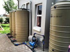 Rain Harvesting setup with JoJo Slimline tanks for irrigation