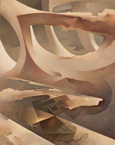 Tullio Crali, Cielo veloce, 1971 Olio su tela, 100x80cm