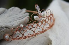 Queen+of+Hearts+copper+bridal+prom+wedding+crown+by+Keepandcherish,+$75.00