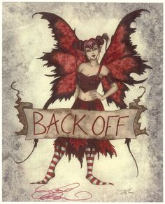 Fairy Art by Amy Brown - Back Off