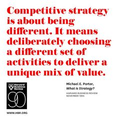 What is strategy?  by Michael E. Porter