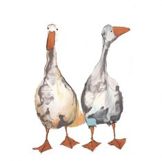 'Wendy and Grace' greeting card image by Catherine Rayner