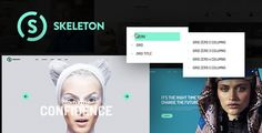 Skeleton WordPress Theme . The theme is perfect for any creative company or agency. Create any page using the Visual Page Builder and Awesome Addons. Use more than 5 headers layout. And a lot of interesting