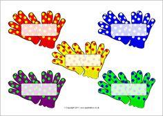 Pupil self-registration winter gloves (SB6157) - SparkleBox