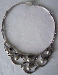 Necklace | Los Castillo.  Sterling silver.  ca. late 1940s