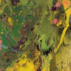 Gerhard Richter (German, b. 1932), Flow (934-7), 2013. Enamel on back of glass mounted on Alu Dibond