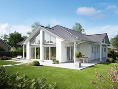 Bungalow CUMULUS WD.500.2 • Einfamilienhaus von Heinz von Heiden • Barrierefreies Haus mit lichtdurchfluteten 4 Zimmern und Walmdach.