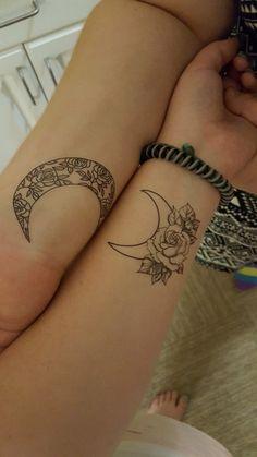 Best friend moon tattoos