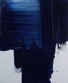 "Saatchi Art Artist Koen Lybaert; Painting, ""Almost Blue I [Abstract N° 1787]"" #art"