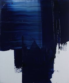 "Saatchi Art Artist Koen Lybaert; Painting, ""Almost Blue I [Abstract N° 1787]"" #art"