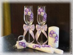 "*POLYMER CLAY ~ Wedding accessories handmade.  Fair Masters - handmade wedding set of ""Fantasia.""  Handmade."