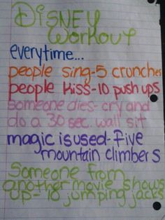 disney movie workout - Google Search