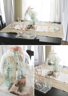 i like these color theme for the cocktail hour area - light blue (like our BM dress color), burlap, lace, ivory, white, slight hint of light pink/coral