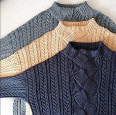 Beautiful cable knit and colour combination Knitwear Fashion, Knit Fashion, Cable Sweater, Cable Knit, Creative Knitting, How To Purl Knit, Knit Jacket, Knitting Stitches, Types Of Fashion Styles