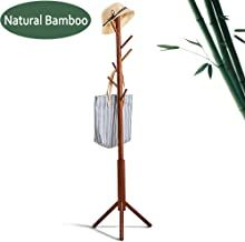 FILWH Premium Bamboo Coat Rack Tree with 8 Hooks, 3 Adjustable Sizes Free Standing Wooden Coat Rack, Super Easy Assembly Hallway, Entryway Coat Hanger Stand for Clothes, Suits * You can get additional details at the image link. (This is an affiliate link) Coat Hanger Stand, Wooden Coat Rack, Entryway Furniture, Super Easy, Hooks, Bamboo, Image Link, Suits, Free
