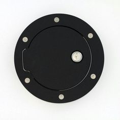 All Sales Race Style Billet Fuel Dr 6 1-4 Ring O.D. 4 1-2 Door O.D. -Flat Black Ring and Locking Door