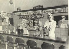 The drugstore soda fountain was a fun place to get a soda and meet with friends.  Did you ever go to a soda fountain?
