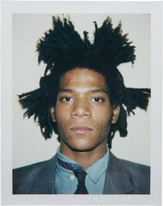 ANDY WARHOL photograph of Jean-Michel Basquiat, 1982