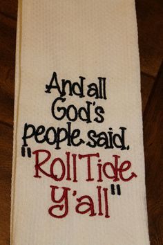 Excited to share this item from my shop: One University of Alabama Crimson Tide monogrammed/appliqued kitchen towel/dish cloth-tailgating-shower-hostess gift-Roll Tide-Christmas Alabama Football Shirts, Crimson Tide Football, Alabama Crimson Tide, Roll Tide Alabama, College Football, Football Sayings, Roll Tide Football, Football Crafts, Football Fever