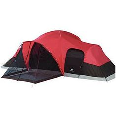 Ozark Trail All Season Family Tent In Enlarged Dome Design With 2 Removable Room Dividers RollBack Fly And Screen Porch Sleeps 10 Measures 21 x 15 x 78 ** Visit the image link more details.