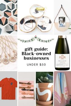 In this week's gift guide, I'm highlighting 15 gifts under $50 from Black-owned businesses. Be an ally by opening your wallet and giving them their support! #giftguide #blackownedbusiness #blacksmallbusiness