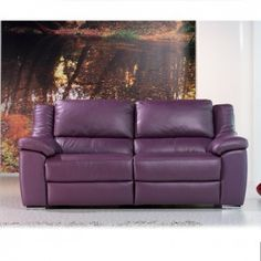 Ordinaire Tu Piel Mario Sofa, 3 Seater Power Recliner