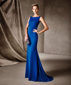 CIPRIANE - Pronovias party dress in crepe and lace