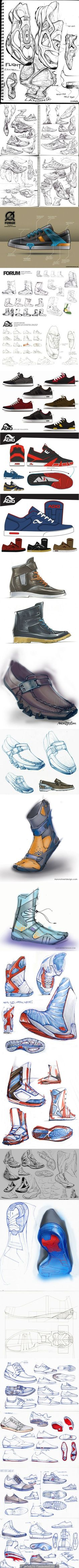 다양한 디자인,색상의 신발들이 역동적이면서 신발특유의 매력이 잘나타남