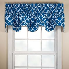 Woburn Scalloped Valance - BedBathandBeyond.com - in black $29.99