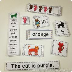 Cats and Color Words {great to go along with Pete the Cat!}