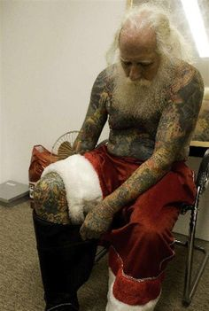 ✯ Inked Santa .:☆:. Unknown Photograph ✯