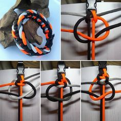 from - 3 way Cobra. I flipped the buckles on this one. I liked the backside better - from - 3 way Cobra. I flipped the buckles on this one. I liked the backside better - Paracord Bracelet Designs, Paracord Projects, Bracelet Crafts, Paracord Bracelets, Bracelet Knots, Paracord Braids, Paracord Knots, Paracord Tutorial, Bracelet Tutorial