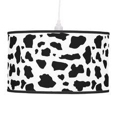 Cow print pattern lamp