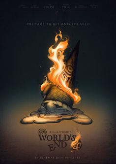 An alternative movie poster for the film The World's End, created by Vero Navarro, featured on AMP Movie Synopsis, Alternative Movie Posters, Alternative Art, Minimalist Poster, End Of The World, Film Posters, Good Movies, Movies And Tv Shows, Movie Tv