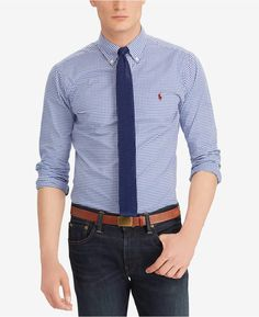 Polo Ralph Lauren Men s Classic Fit Cotton Gingham Shirt Gingham Shirt d53b76ab335