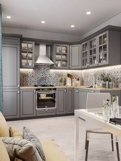86 creative grey kitchen cabinet ideas for your kitchen 39 Modern Kitchen Cabinets Cabinet Creative Grey Ideas Kitchen Grey Kitchen Cabinets, Kitchen Cabinet Design, Interior Design Kitchen, Home Design, Design Ideas, Soapstone Kitchen, Kitchen Backsplash, Kitchen Countertops, Grey Ikea Kitchen