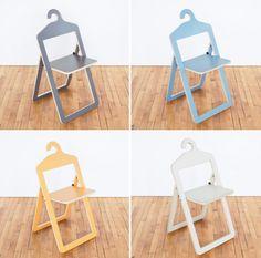 Hanger Chair La marque de design canadienne Umbra a lancée une gamme de produits réalisé par le designer basé à Londres, Philippe Malouin. Des chaises originales, pliantes et basées sur un système de stockage pratique : le cintre.
