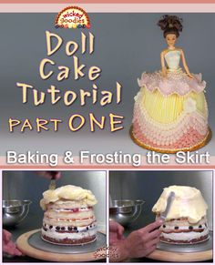 How to Make a Doll Skirt Cake