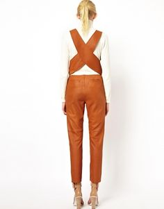 Enlarge ASOS WHITE Overalls in Leather