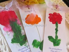 DIY Mother's Day : DIY  Mother's Day Flower Bookmark Craft