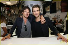 Ian Somerhalder and Paul Wesley at #TVD Comic Con Panel 2016