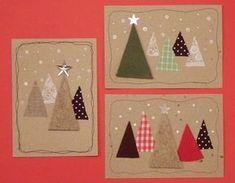 Löysin korttien joukosta muutaman vanhan kortin... Luulen, että tänä viikonloppuna useampi askartelee kortteja... Tässäpä olisi yksi idea ni... Christmas Card Crafts, Homemade Christmas Cards, Handmade Christmas Decorations, Christmas Sewing, Christmas Cards To Make, Christmas Mood, Noel Christmas, Xmas Cards, Christmas Projects