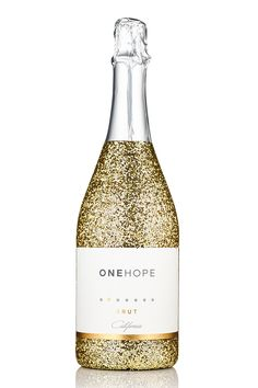 viaONEHOPE - California Sparkling Brut Gold Glitter Bottle | Every bottle provides 15 meals to children in need