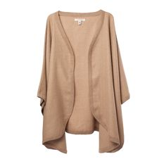 If ever there were a perfect layering piece, this super-soft baby alpaca cape is it. Equally perfect for an exciting night out as for a cozy day in, slip it over a sleek cocktail dress or wrap it around your favorite tee. Designed in a confident palette of neutral colors and made from 100% baby alpaca for lightweight, velvety softness and longevity. No matter what the day or night holds, this cape/wrap/shawl/coat (you name it!) has got you covered.