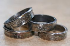 so cool...rings made from state quarters!