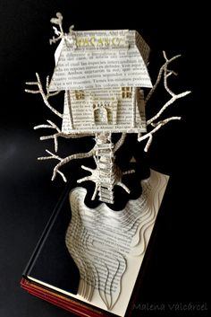 Haunted Hotel Book Art Book Sculpture by Malena Valcarcel