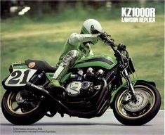 Vintage Brochures: Kawasaki KZ 1000R Lawson Replica 1982 (Usa)