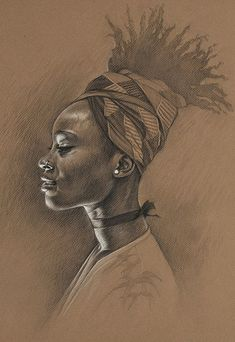 Kate Zambrano {figurative art female head african-american black woman face portrait drawing} - Buscar con Google